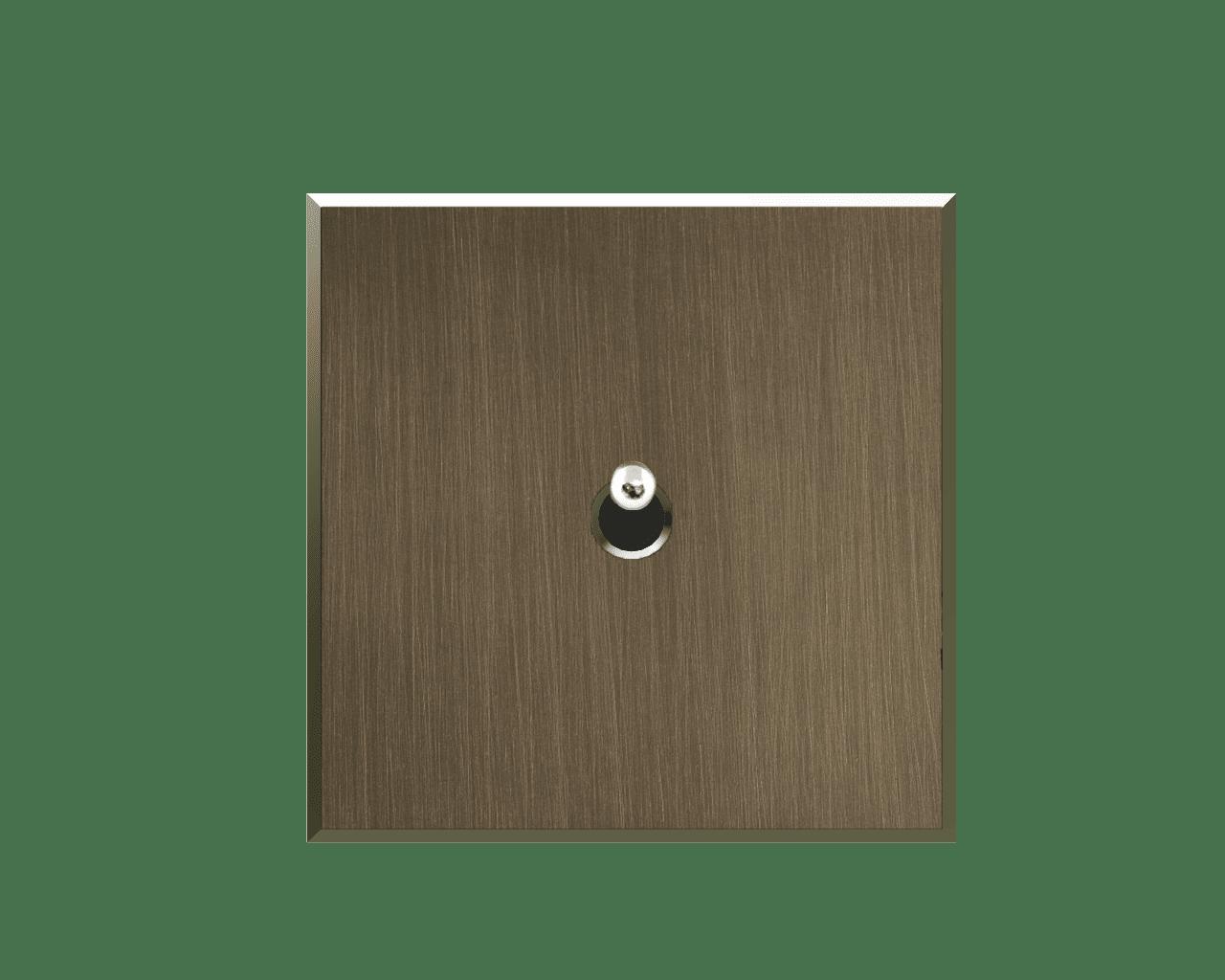Interrupteur Matière Lumière finition Bronze foncé