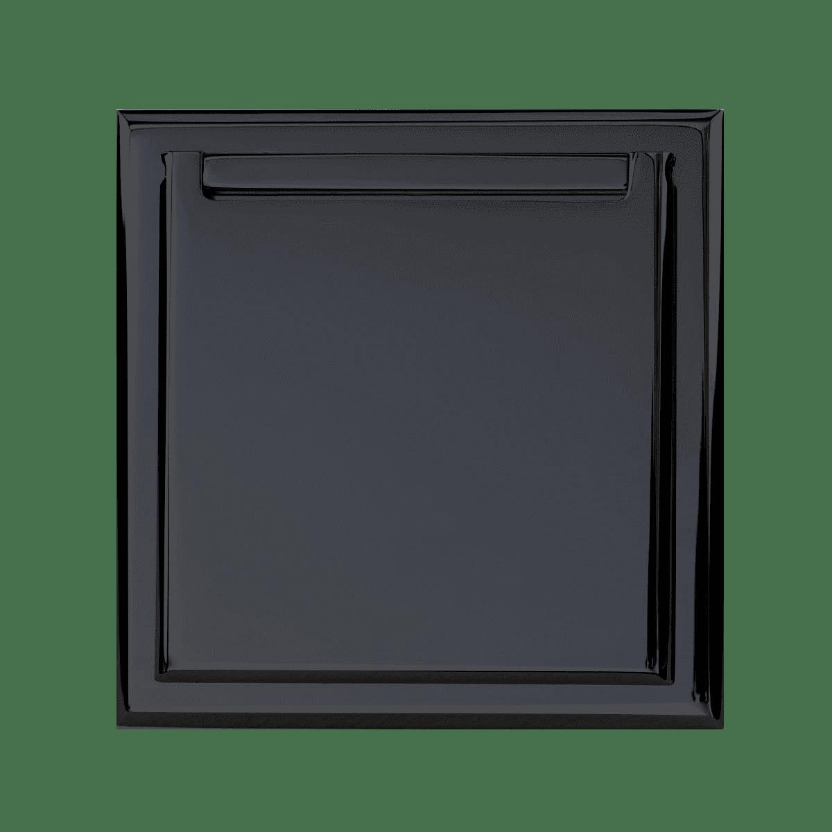 Prise clapet chrome noir Matière Lumière