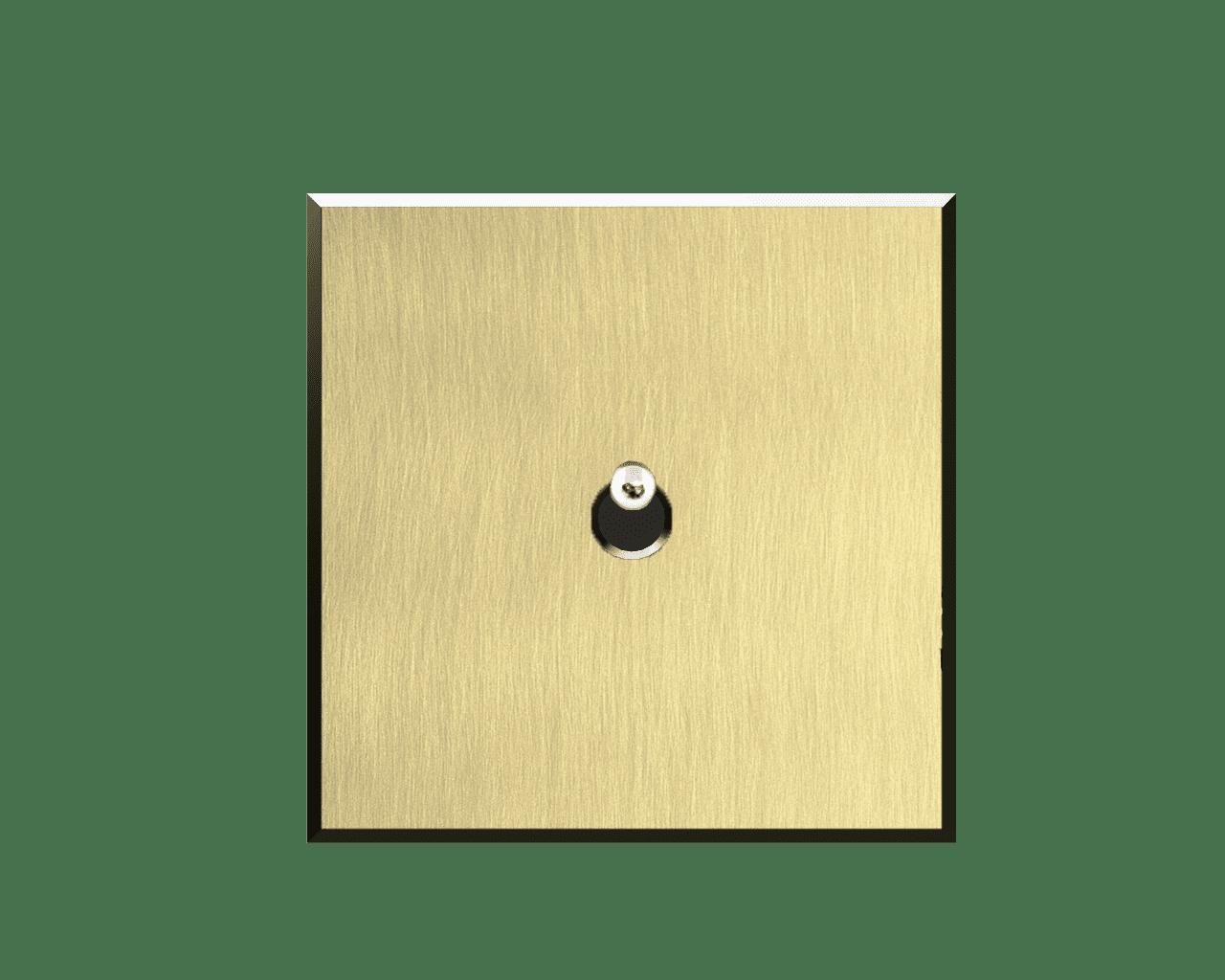 Interrupteur Matière Lumière finition Laiton