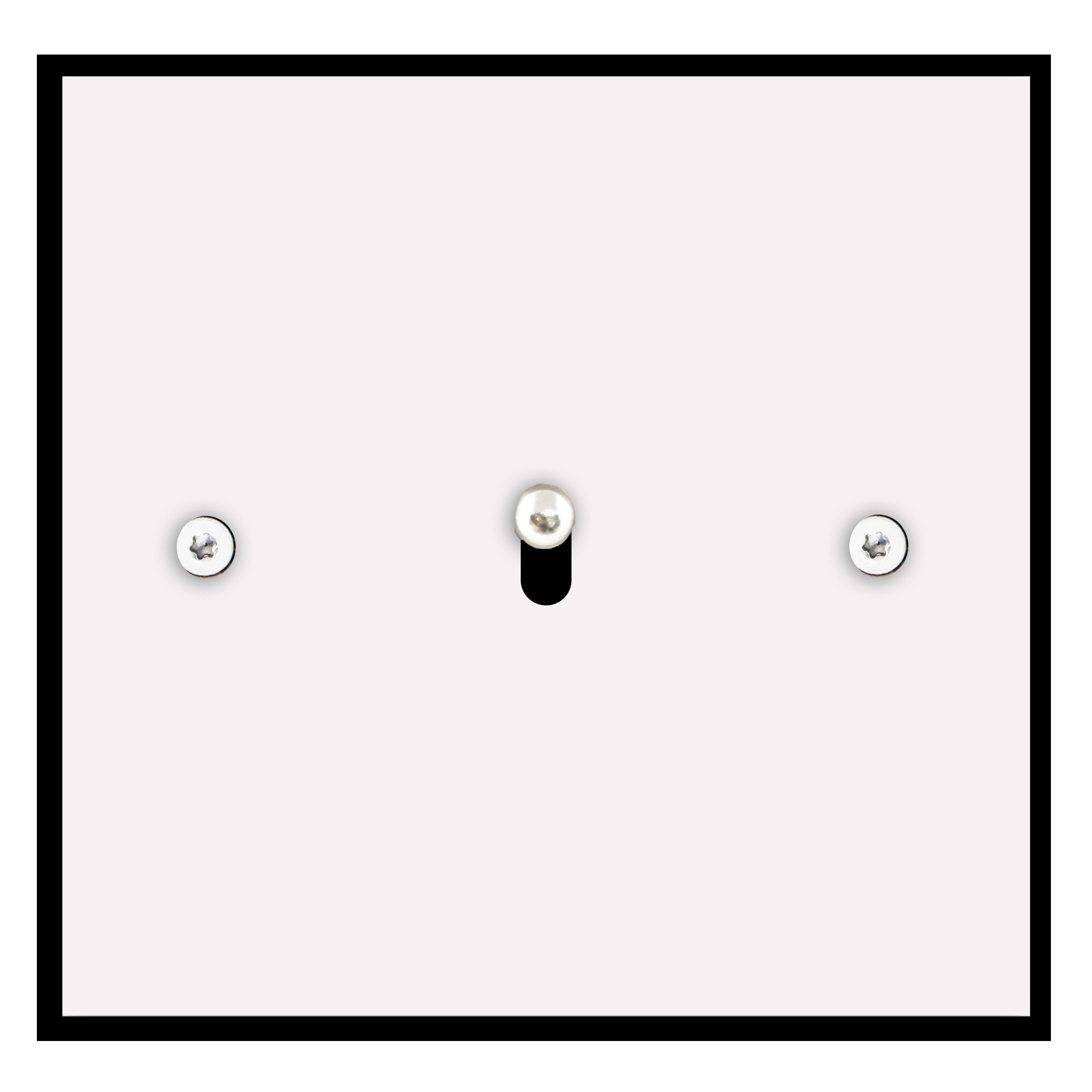 Interrupteur inox blanc Matière Lumière