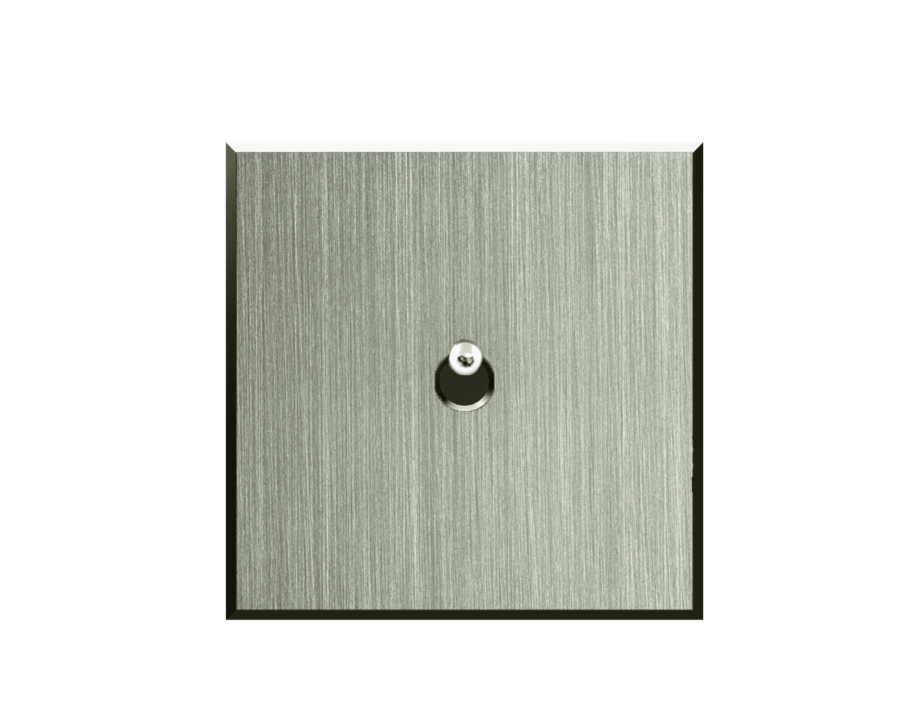 Interrupteur Matière Lumière finition Nickel Brossé