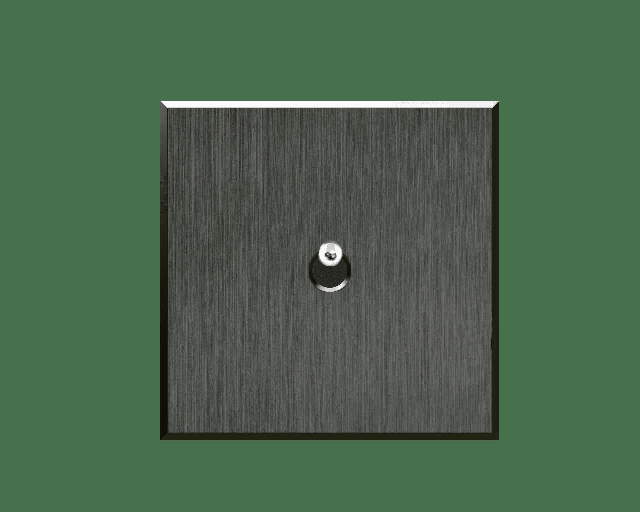 Interrupteur Matière Lumière finition Nickel Noir